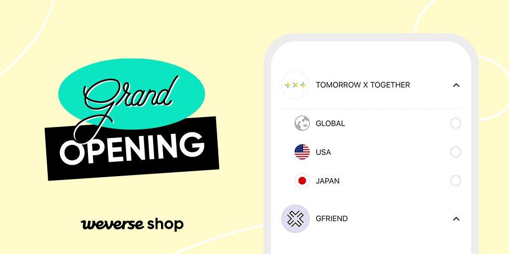 グローバル公式ファンコマースアプリ #WeverseShop お住まいの地域によって、GLOBAL、USA、JAPAN Shopから選択し、ご利用ください。アプリを最新版に更新し、アーティストやショップを選択の上、ご利用をお願いします。👉