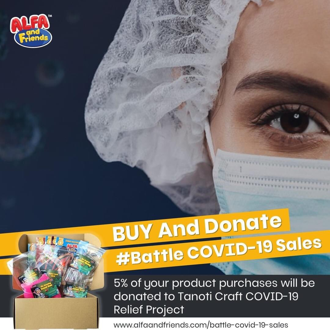 BUY And Donate: #Battle COVID-19 Sales  Introducing our initiatives to help the frontliners, the #Battle COVID-19 Sales where 5% from every product purchased by you, will be donated to Tanoti Craft COVID-19 Relief Project which currently producing the PPE suits to our frontliners https://t.co/sSwCxreEUy
