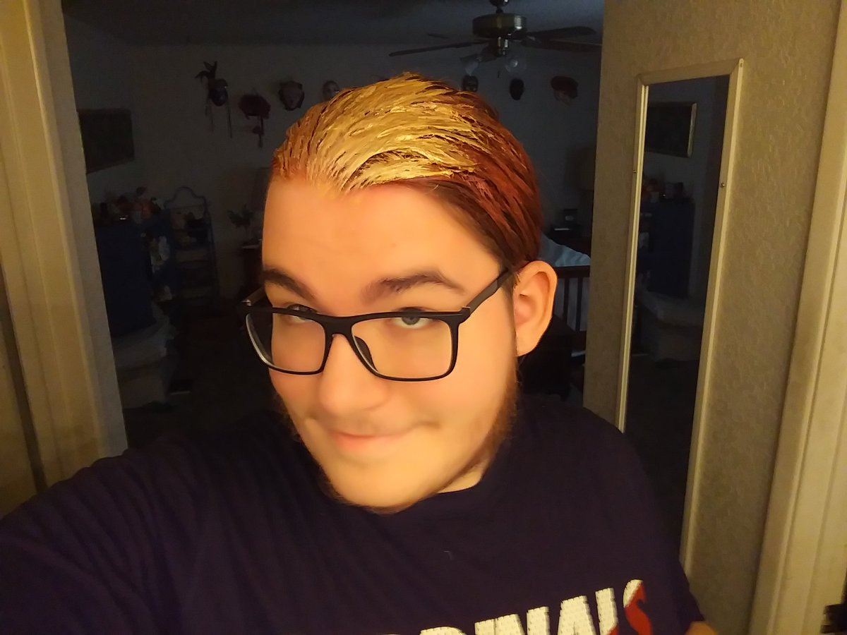 Fun Color-hair day! Had to do something to spice things up for drama today. 😂 turned out a bit goofier than I was expecting.  #Colorhair #haircolor #coloredhair #Hair #hairwax #funhair #funnyhair