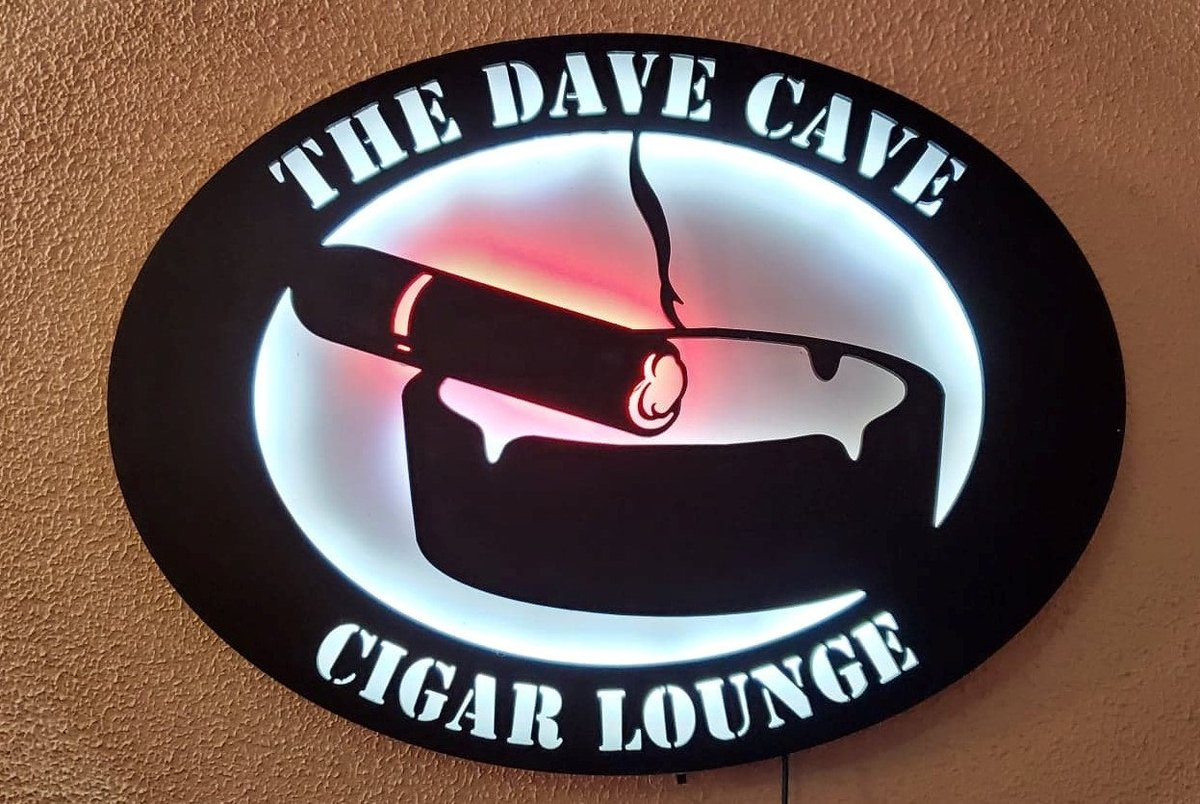 Excited to share the latest addition to my #etsy shop: Cigar lounge custom led sign, Personalized cigar sign, Smoking decor, Cuban smoke sign, Man cave, Sign for him, Birthday gift, Light up,  #black #white #office #ledsign #custom #personalized