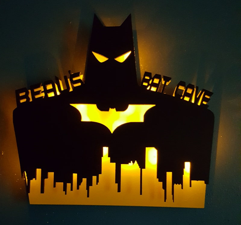 Excited to share the latest addition to my #etsy shop: Personalized Batman Sign,Light up batman with name,Birthday gift for him,her,Bat cave,Personalized with name, LED light, Night light, Custom  #housewares #homedecor #black #white #bedroom #ki
