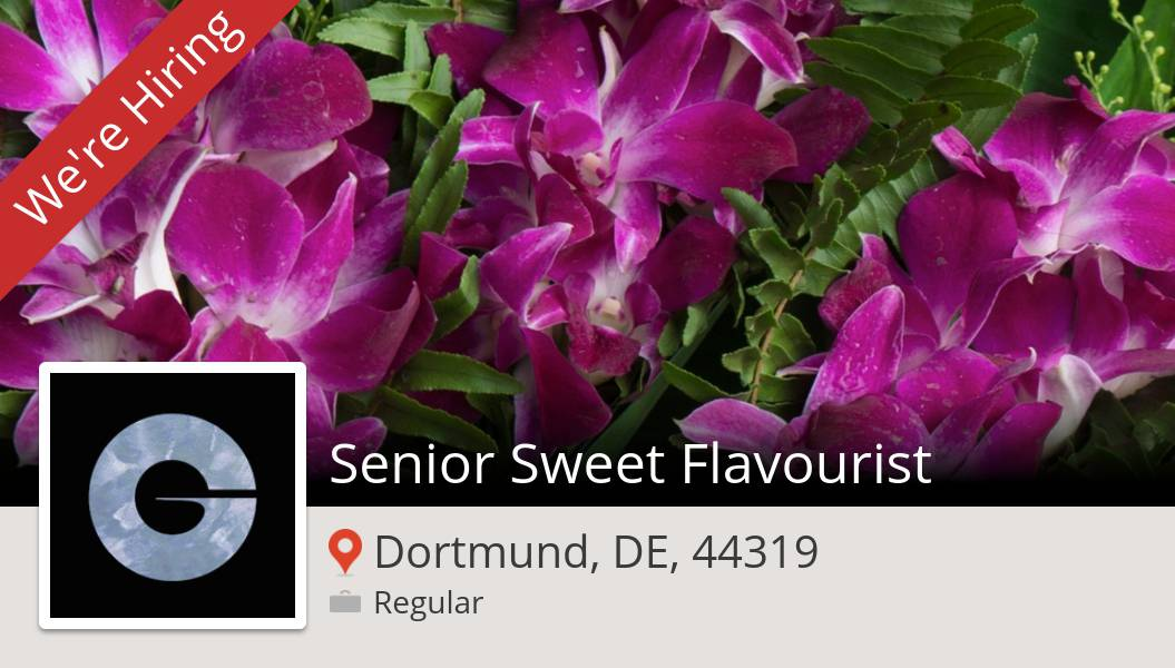 Apply now to work for #Givaudan as Senior Sweet Flavourist in #Dortmund! #job