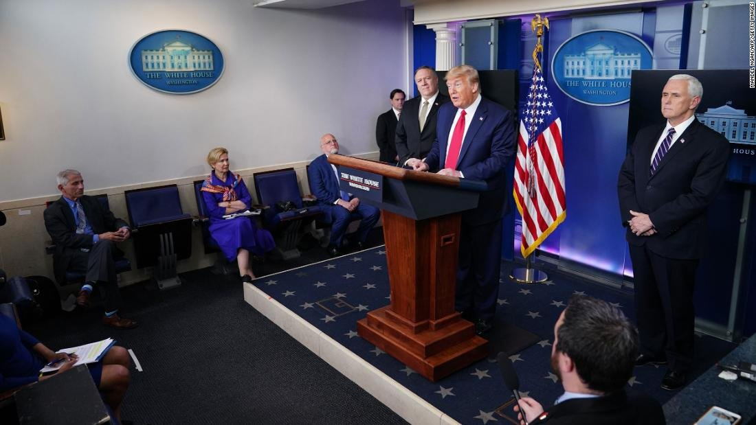 Fact check: US President Trump offers two dangerous falsehoods in a largely straightforward coronavirus briefing https://cnn.it/3aVK1fBpic.twitter.com/y3E4o6fq4Y