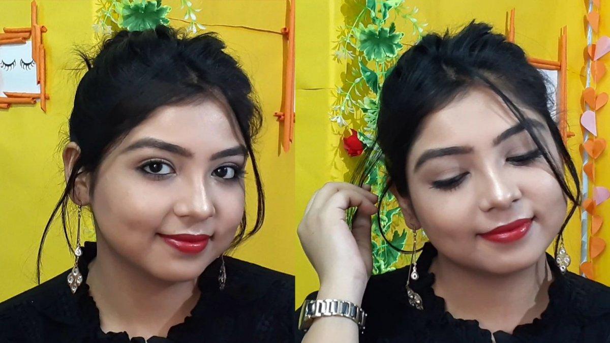 Bold Red Lip+ No Makeup Makeup Look👇  #makeup #simplemakeuplook #makeupartist #glam #YouTuber #youtube #India #redlips #nofoundationmakeup #Trends