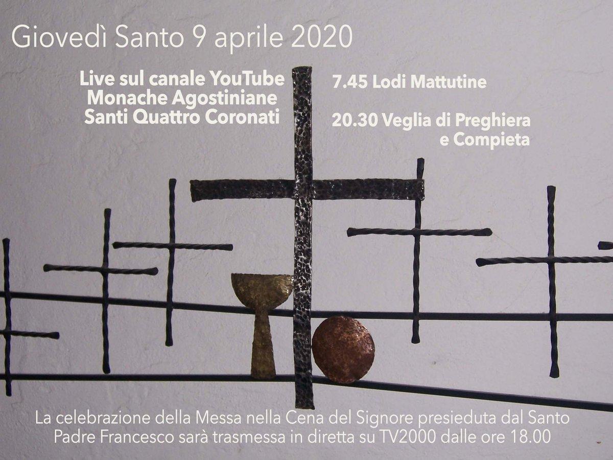 #giovedisanto #SettimanaSanta #preghiamoinsieme #livestreaming #monachesantiquattrocoronatipic.twitter.com/XyEi2mlT79