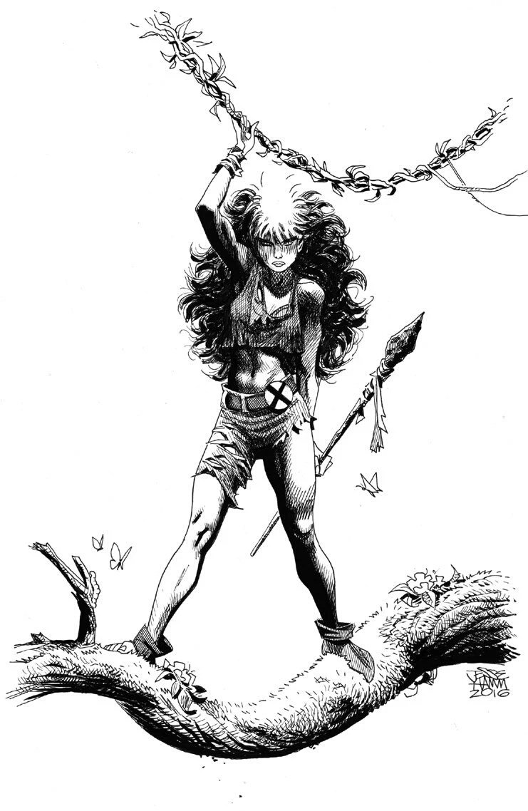 Savage Land Rogue commission by the amazing @jesse_hamm. So gorgeous. #nightnurselove #comicspositivity #artlife pic.twitter.com/R0LfRJIZaG