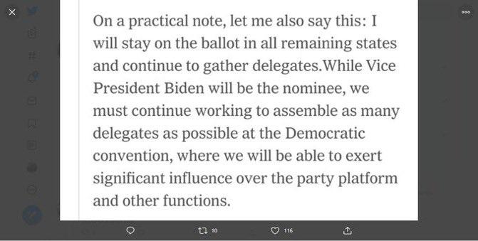 🔥🔥🔥💥#PresidentSanders ❤️Reminder to vote @BernieSanders if you live in a late primary state like New York. Bernie says