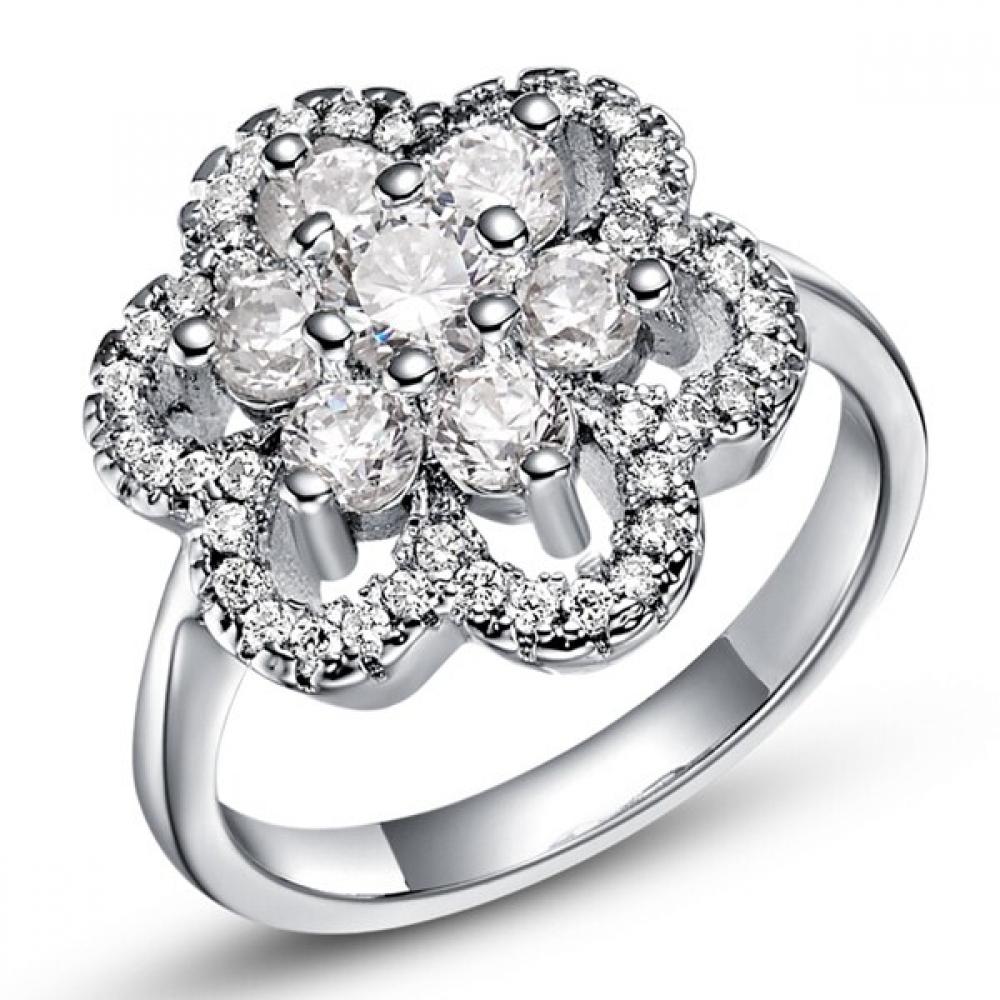 #cute #pretty Women's Elegant Silver Flower Ring