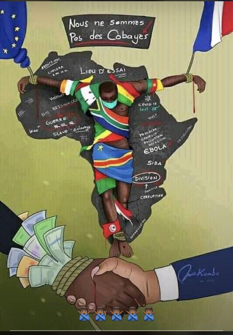 #lAfriquenestpasunlaboratoire #laisseznousenpaix #AfricansAreNotLabRats #shameonallofyou #COVID19 #africa