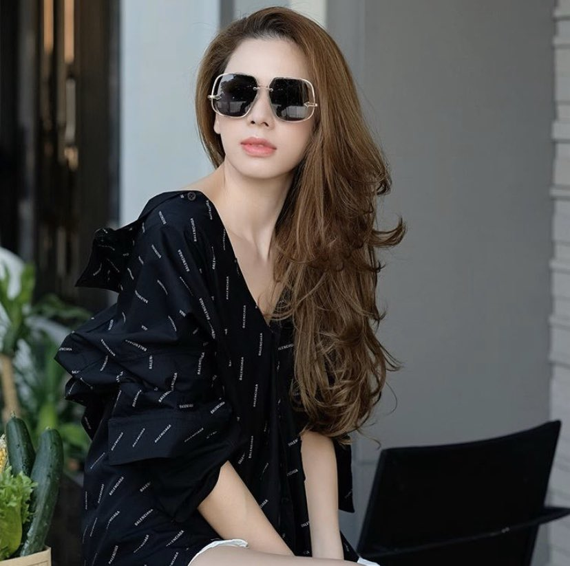 "#KarenWalker as worn • K. @aey_pornthip  in ""Hypatia"" sunglasses  Eyewear Distributed by @quad22_thailand  #sunglassses #eyewear #meneyewear #quad22 #quad22thailand #womeneyewear #KarenWalkerEyewear #ShopfromHome #โควิด"