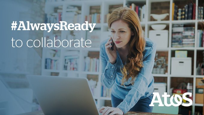 At Atos, we are #AlwaysReady to collaborate! With our remote communication and collaboration...