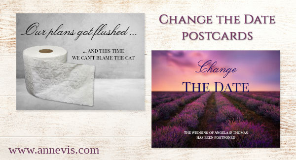 Change the Date ... when your wedding plans do not work out the way you wanted ...  #ChangeTheDate #SaveTheDate #wedding #weddingplanning