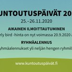 Image for the Tweet beginning: #Kuntoutuspäivät uusi ajankohta on 25.–26.11.2020.