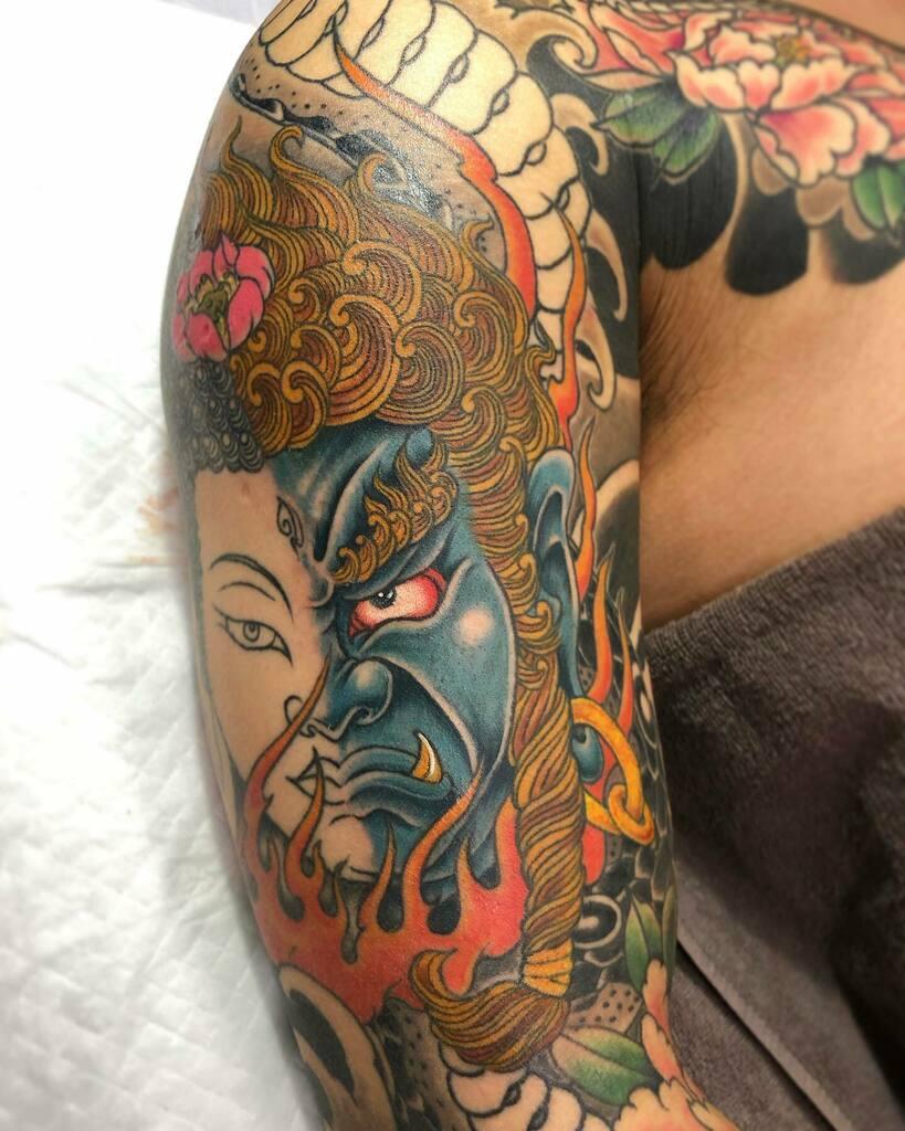 #如来 #明王 #nyorai #myoo #蛇 #牡丹 #snake #peony . . . #tattoo #reikotattoo #studiokeen #japan #nagoyatattoo #irezumi #タトゥー #刺青 #名古屋 #大須 #矢場町 https://t.co/LRp6A9TweF https://t.co/w9SRIE20sR