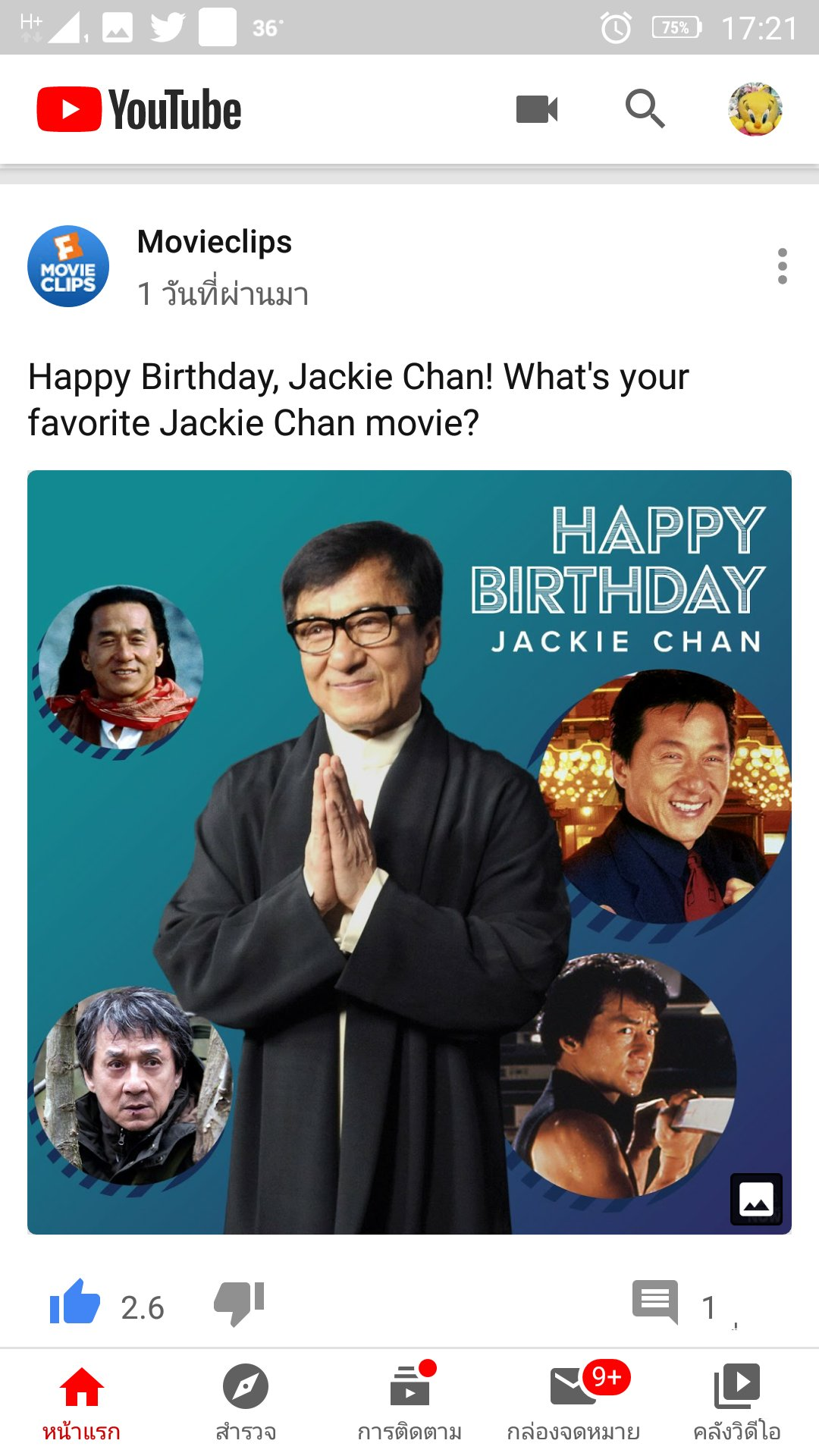 birthday to Jackie Chan