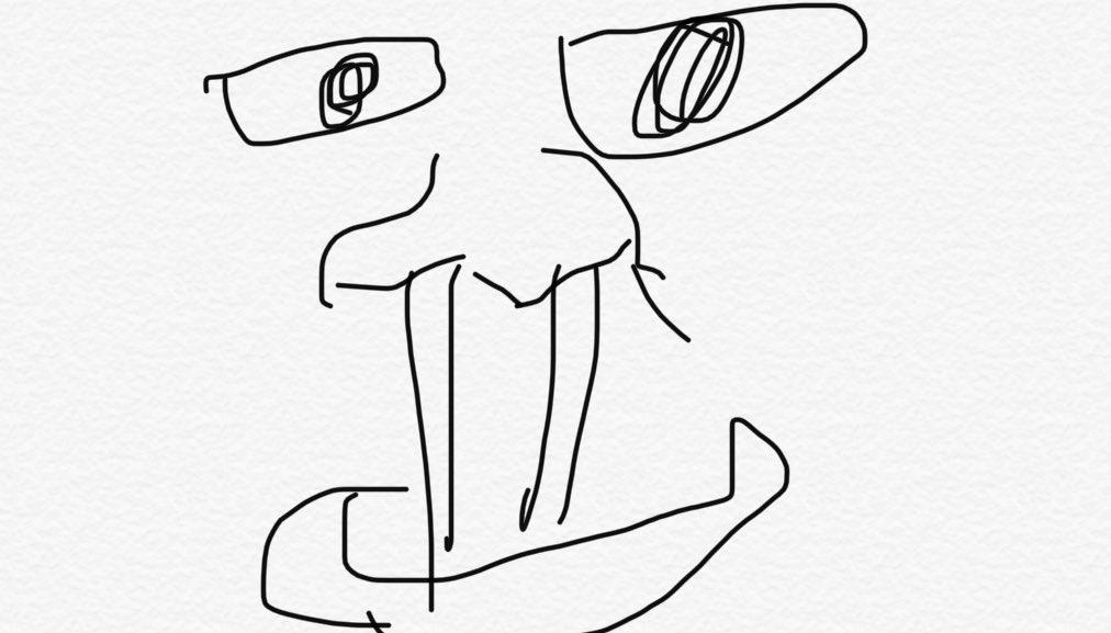 このアイコン描いてもらうときに俺が描いたイメージ図がこちら