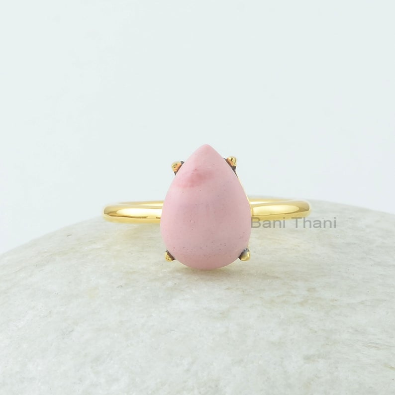 Pink Opal Pear Shape Gemstone Ring!  Visit our store: https://etsy.me/3aUJsCZ    #jewelry #silverring #stonering #ladysmith #gemstone #prongring #fashionjewelry #gemstonejewelry #cabochonring #opalring #goldplated #pearring #pinkring #fashionring #gemstonering #banithanipic.twitter.com/Zi5Y7p0ziF