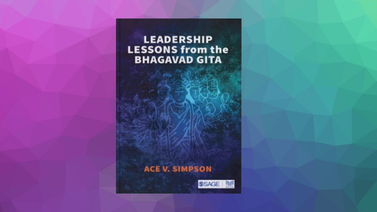 """""""When suddenly made salient by a changing context, unresolved tensions cause anxiety (and) hopelessness…"""" says Ace Simpson, author of #LeadershipLessonsfromtheBhagavadGita. To know how to overcome this, get the #Kindle version@ ow.ly/4mvE50z65E5 #SAGEResponse #positivity"""