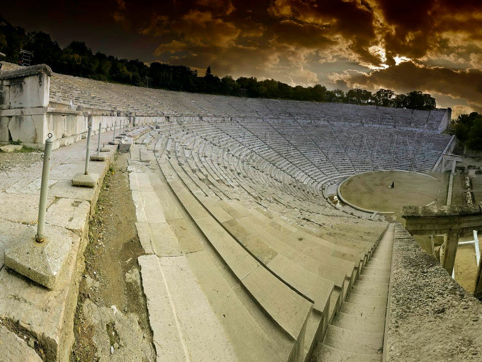 Αncient theatre of Epidaurus,Peloponnese,Greece.