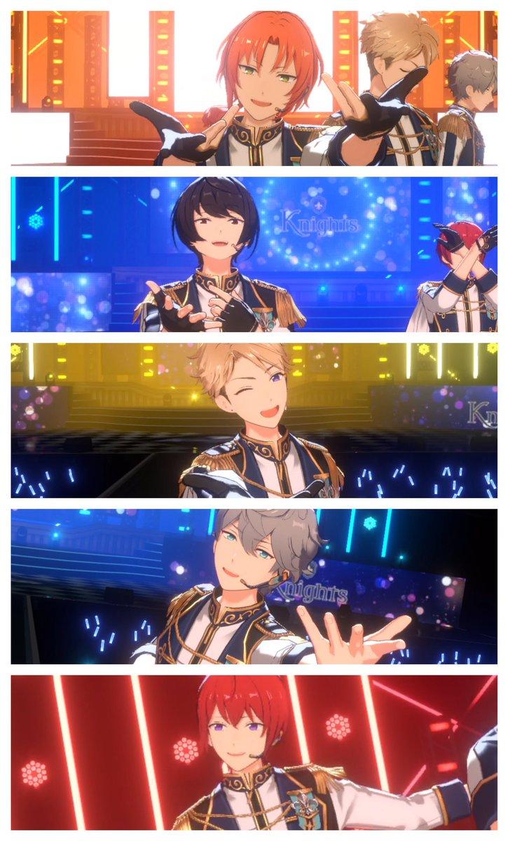 5人の歌パートが切り替わるたびにライトの色が変わるのも、アルバムジャケット通りの並びと最後のポーズも完璧なステージでないてる………