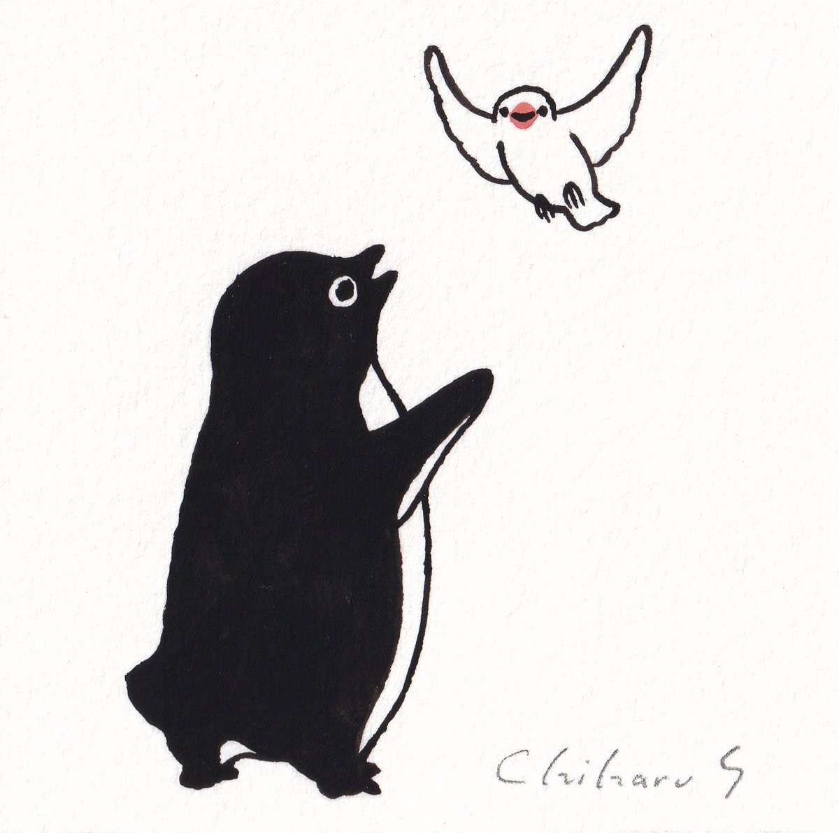 ぶんちょう もういっちょう#文鳥投入 #ペンギン百態