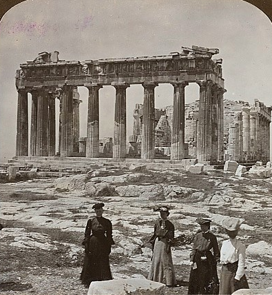 Visit to the Acropolis.Athens 1907.