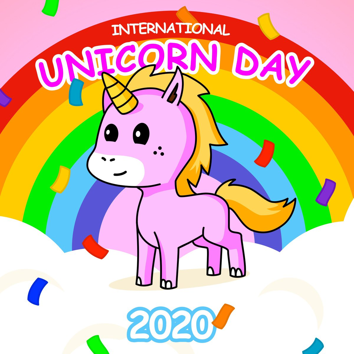 Happy International Unicorn Day! It's time to celebrate our magical friends who bring us so much happiness every day that we don't even know how to handle it. Woohoo! 🦄 🌈😀✨ #cornify #unicorns #younicorns #rainbow #internationalunicornday #party