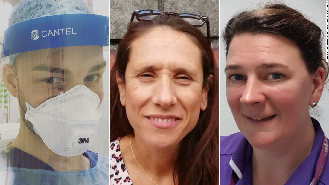 """""""It's a hideous situation and unfortunately, I think there are going to be a huge number of nurses that are going to be quite traumatized.""""  These nurses are risking it all on the frontline of Britain's coronavirus outbreak https://cnn.it/2yH5Cdrpic.twitter.com/6PAXK92DCL"""