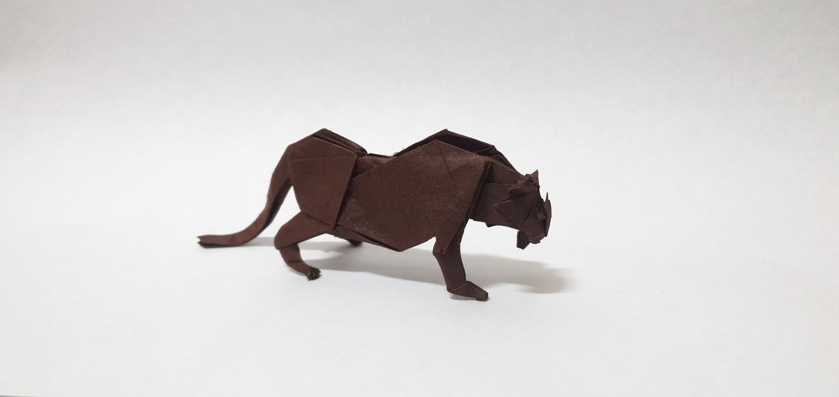 Origami Black Panther | Designed and folded by Mindaugas Ces… | Flickr | 568x1200