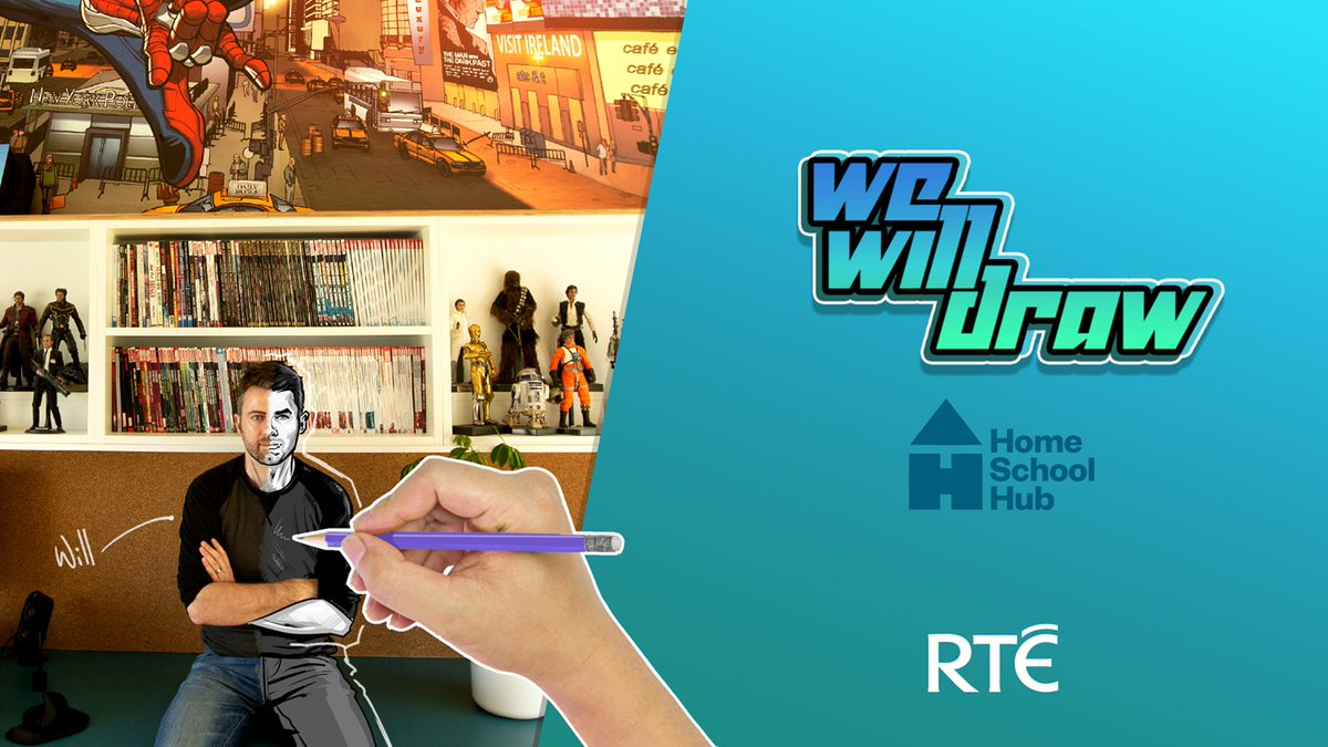 Yup! #wewilldraw is coming to TV.  First episode will be on #RTEHomeSchool this Monday on @RTE2 with @MacallaTeo.  Loads of episodes coming your way, and most importantly, loads of fun stuff to draw with free worksheets and resources on https://t.co/dxRmtwjYIB https://t.co/tFeI4GFXyR