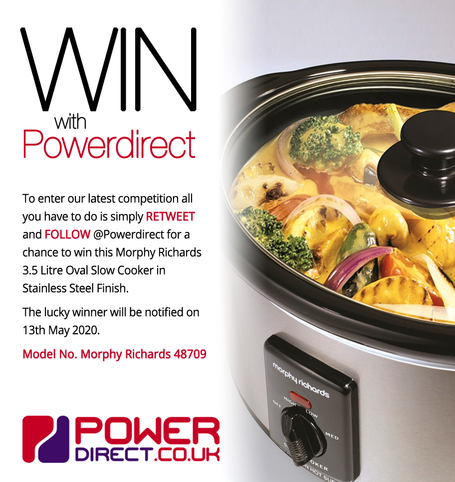 #Free to Enter @PowerDirectUK #Competition #Giveaway... Simply #RT and #Follow for a chance to #Win a Morphy Richards 3.5 Litre Oval Slow Cooker.. #ThursdayMotivationpic.twitter.com/KcIlZK8P0G