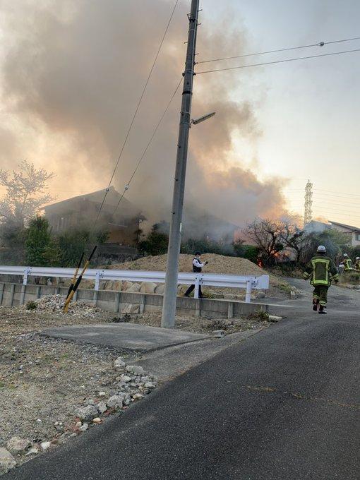 名古屋市緑区で火事が起きた現場の画像