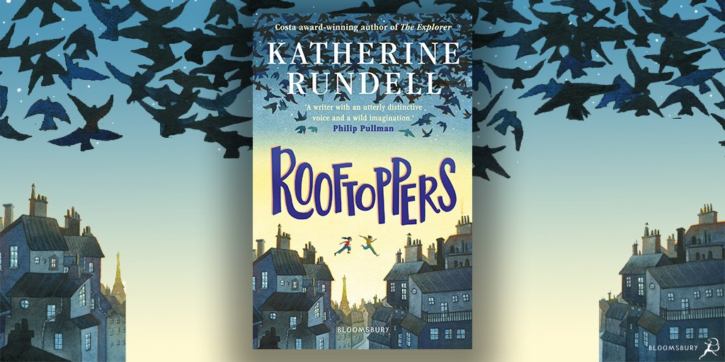 COVER REVEAL&BOOK GIVEAWAY! #Rooftoppers #KatherineRundell  Illustrator @maharelillo  Delighted to reveal the beautiful cover for the new edition of Rooftoppers, published by @KidsBloomsbury. Out 28/5.  Pre-order your copy here: https://bit.ly/3e4AViH  RT to win 1 of 3 copies.pic.twitter.com/2arPhUbCKB