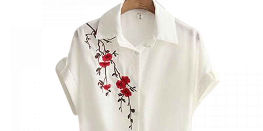 #igers #tagsforlikes Women's Casual Blouse With Floral Embroidery pic.twitter.com/LYBsXhUW5x