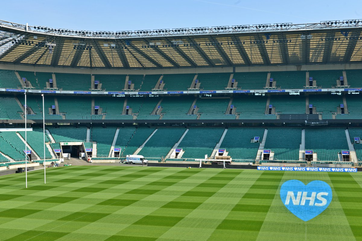 test Twitter Media - Thank you @NHSuk 👏👏👏  The @Twickenhamstad turf has been marked with a message of appreciation for those on the front line dealing with the Coronavirus.   #ClapForOurCarers   More: https://t.co/ApO9WzhnjA 📸@mega_pics_sell https://t.co/3IzmgZe4bL
