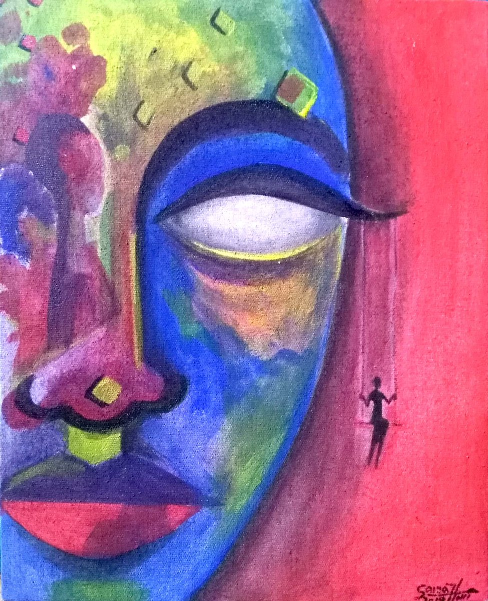 Feel the earth move & then... #acrylicpainting  #canvas pic.twitter.com/9TriBYybMY