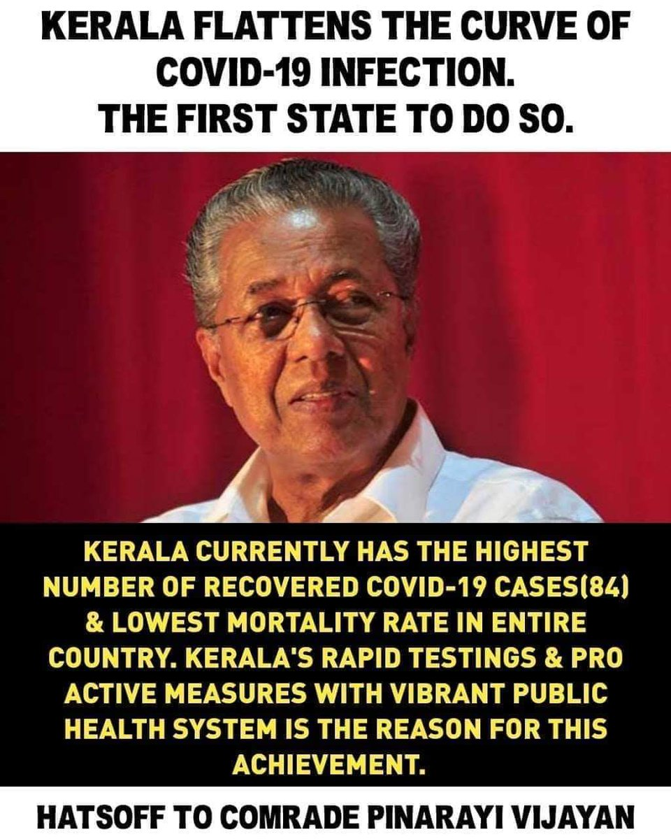 Lal salaam to all the comrades behind this achievement!   Hey @realDonaldTrump, need help?   #KeralaFightsCorona  #IndiaFightsCorona pic.twitter.com/puURJC1PSl