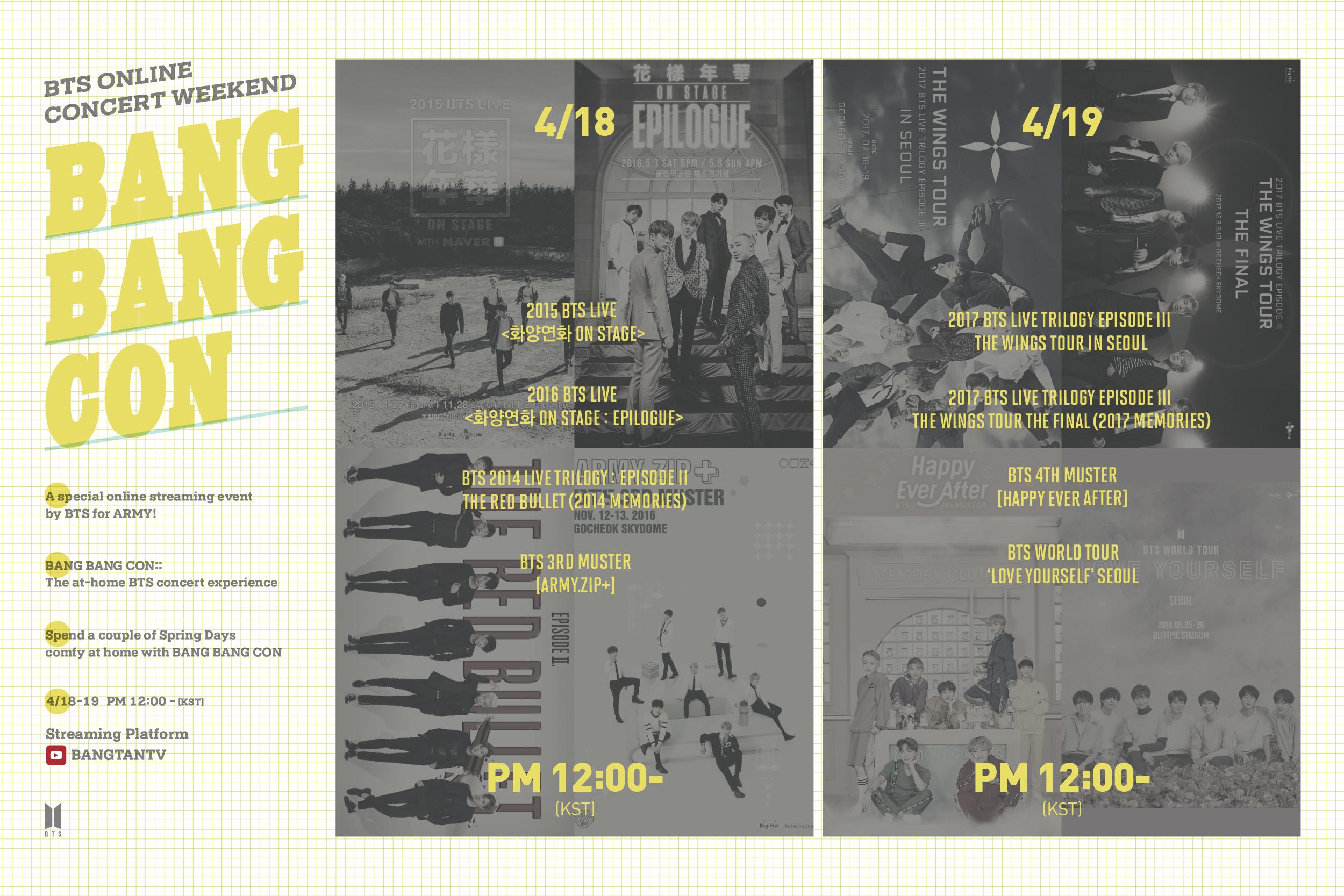 BTS Bikin BANG BANG CON, Konser Online Gratis dari Berbagai Tur Dunia Sejak Debut di YouTube © Big Hit Entertainment