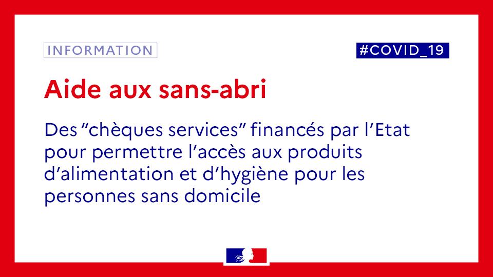 #SolidariteCOVID19  Un dispositif exceptionnel de distribution de #chèques services est mis en place pour permettre aux personnes sans domicile de bénéficier de produits #alimentation et #hygiène  ▶️190 personnes en bénéficieront dans la #Marne  👉