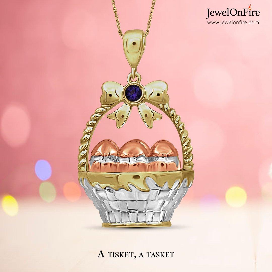 Makes an eggcellent choice!  #pendant #eggbasketpendant #basketpendant #pendantset #springpendant #pendantcollection #designerpendant #diamondpendant  #jewels #jewelry #women #jewelrylover #jewelryshop #jewelrylove #jewelrystore #jewelrydesign #sale #savings #JOF #JewelOnFire