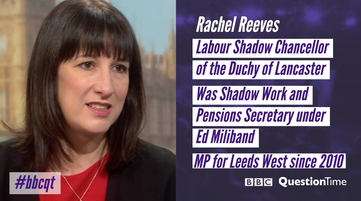 Labour's @RachelReevesMP is on the panel tonight #bbcqt