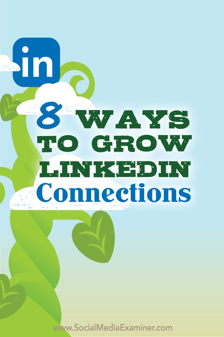 8 Ways to Grow Your LinkedIn Connections #linkedin #profile #connections #growth https://www.socialmediaexaminer.com/8-ways-to-grow-your-linkedin-connections/ …pic.twitter.com/6pch8UyelE