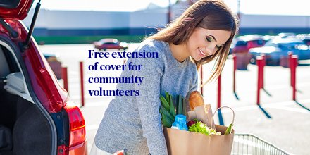 AXA are providing a free extension of cover on personal car and Taxi customers to volunteers who are supporting the national emergency effort by delivering of food and essential items to the elderly or vulnerable in our communities https://t.co/uUZd3l3nvm https://t.co/HiA1pyKeS3