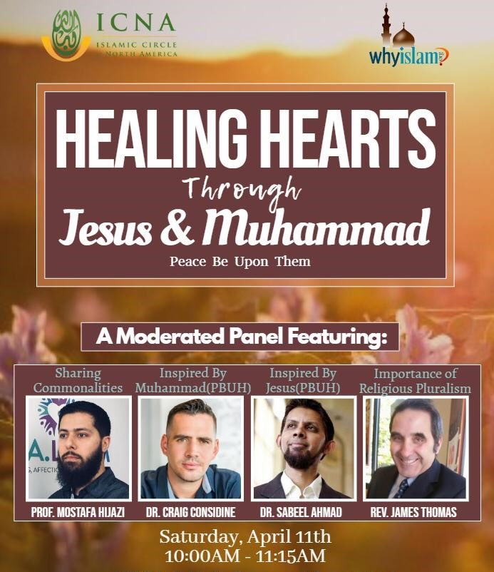 Why are you inspired by Prophet Muhammad?  How & why are Muhammad & Jesus kindred spirits/brothers in faith?  I will answer these questions & more in moderated panel discussions to be streamed by the Islamic Circle of North America's social media accounts on Saturday morning ET. https://t.co/kJOTYkUzTM