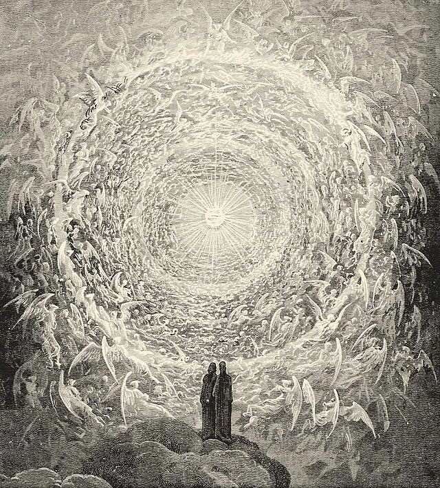 After seeing the 'clear light', Saint Thomas Aquinas is said to have denounced his entire body of writing as being mere straw. #FolkloreThursday #Light (Image of the beatific vision, from Dante Alighieri's Divine Comedy by Gustave Dore) pic.twitter.com/d3akpWfhpl