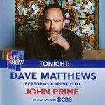 Image for the Tweet beginning: Watch Dave Matthews perform a
