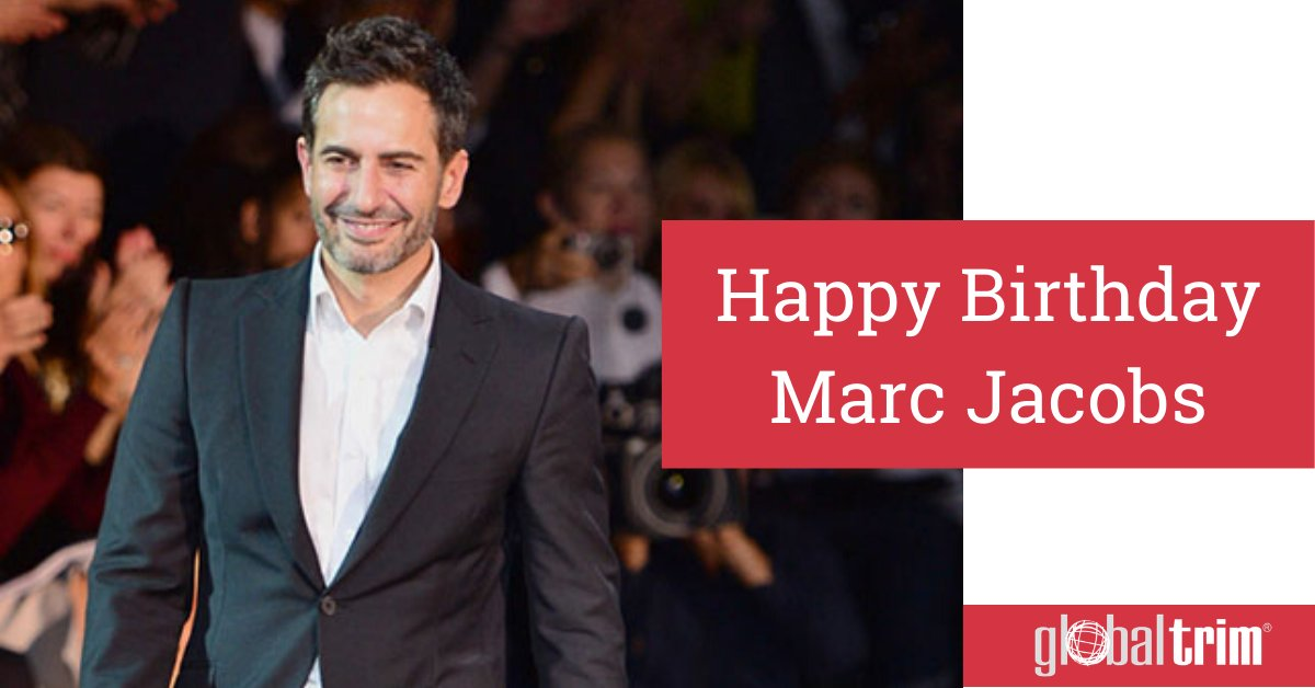Marc Jacobs is one of the most influential designers of his time.  Happy Birthday, Marc Jacobs!  #GlobalTrim #MarcJacobs #FashionDesigner pic.twitter.com/Y7dBBt1c0p