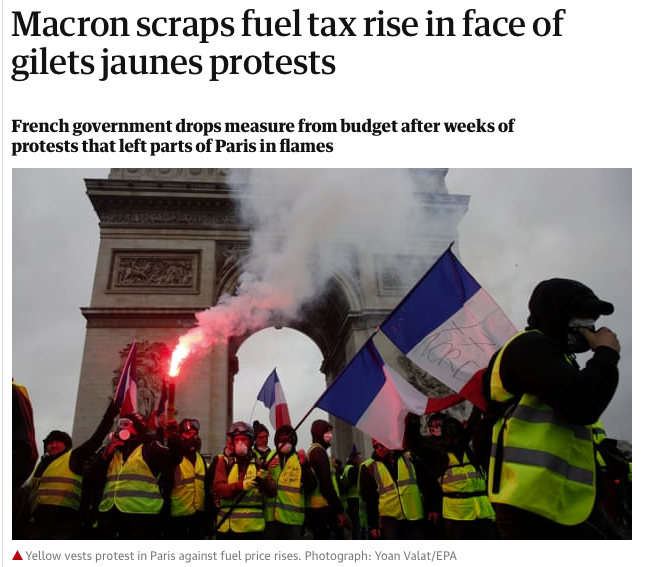 4. A GND can maintain public support for rapid CO2 cuts. Carbon-centric approaches disproportionally impact lower-income families who spend > share of incomes on fuel/pub transit & will invariable generate backlash e.g.  #YellowVests & protests in Chile, Ecuador & Haiti (16/n)