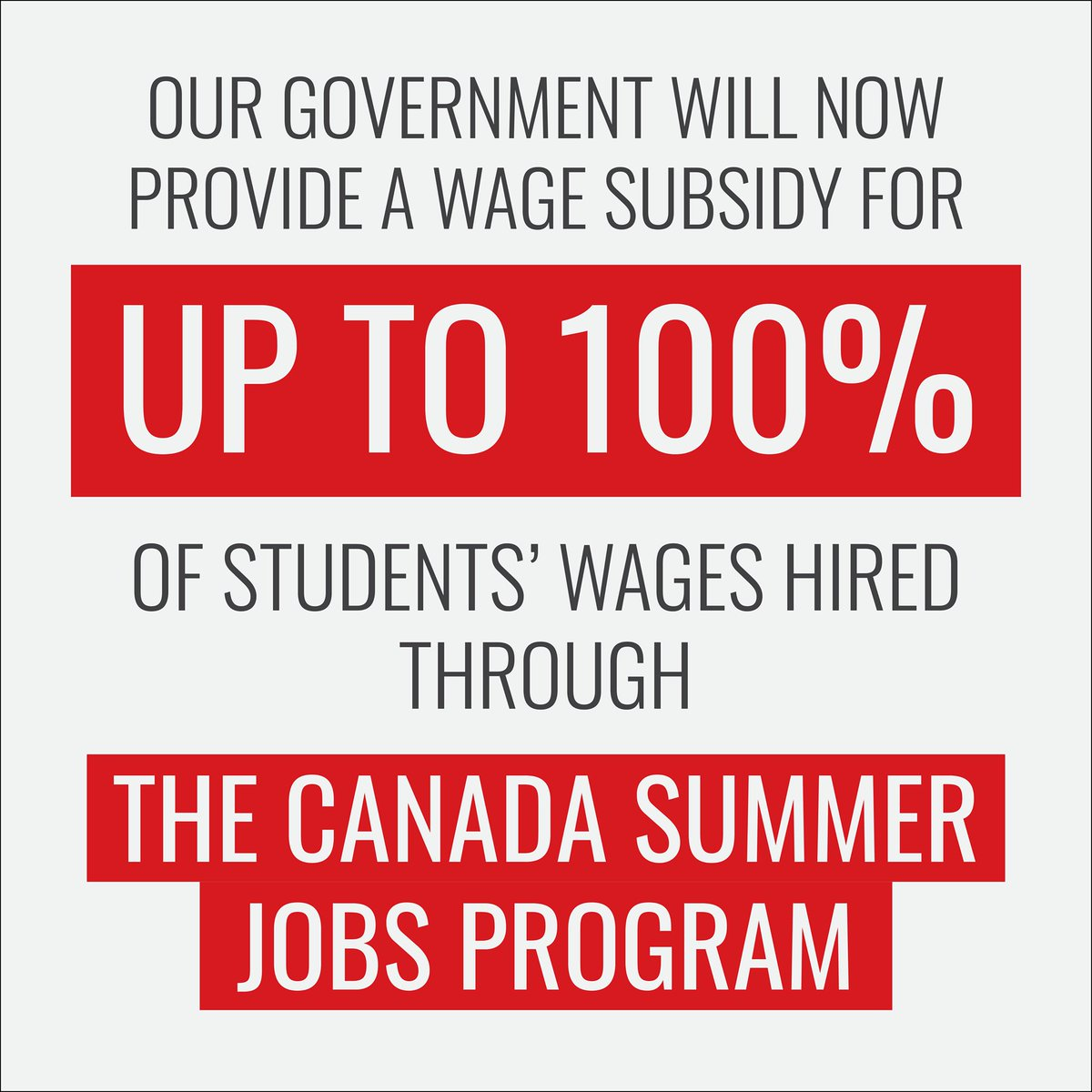 Jean Yves Duclos On Twitter Every Year Thousands Of Young Canadians Between 15 And 30 Years Old Benefit From The Canada Summer Jobs Program To Make Sure The Program Was Fit For The