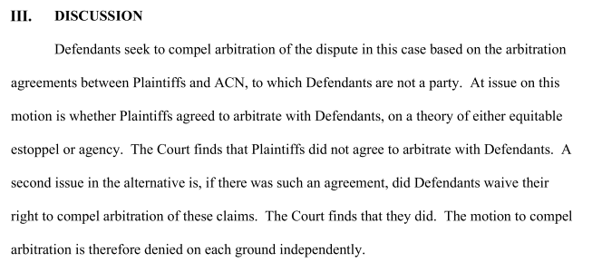 Last night, a federal judge in NY rejected an effort by Trump, his company, and his family to force a fraud lawsuit re: their involvement with a multilevel marketing company into arbitration, a largely non-public, privately-operated justice system